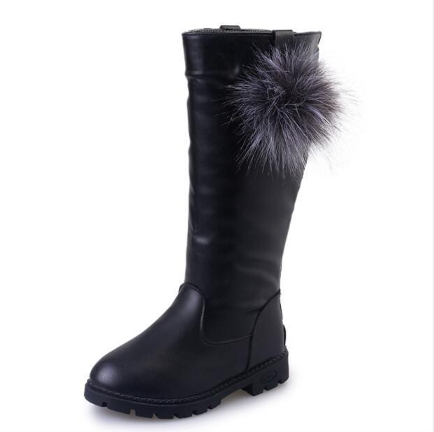 Botas para niñas nueva moda Otoño princesa niños zapatillas suaves niño nieve botas primavera PU cuero niños zapatos niños