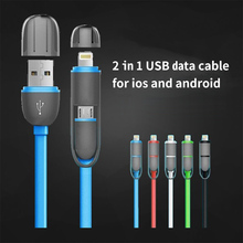 Quick Charger USB to Micro USB Knowledge Sync Cable with Lighting to Micro USB Adapter for iPhone 5 6 6s Plus Samsung Galaxy S4