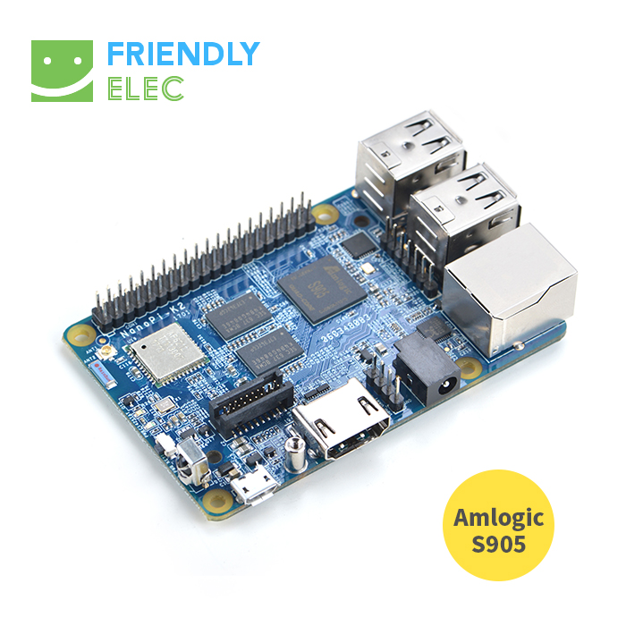 S905 Development Board, NanoPi K2, Onboard WiFi, Bluetooth Gigabit Network, 2G Memory, Support 4K Playback nrf51822 development board bluetooth ble4 0 4 1 development board