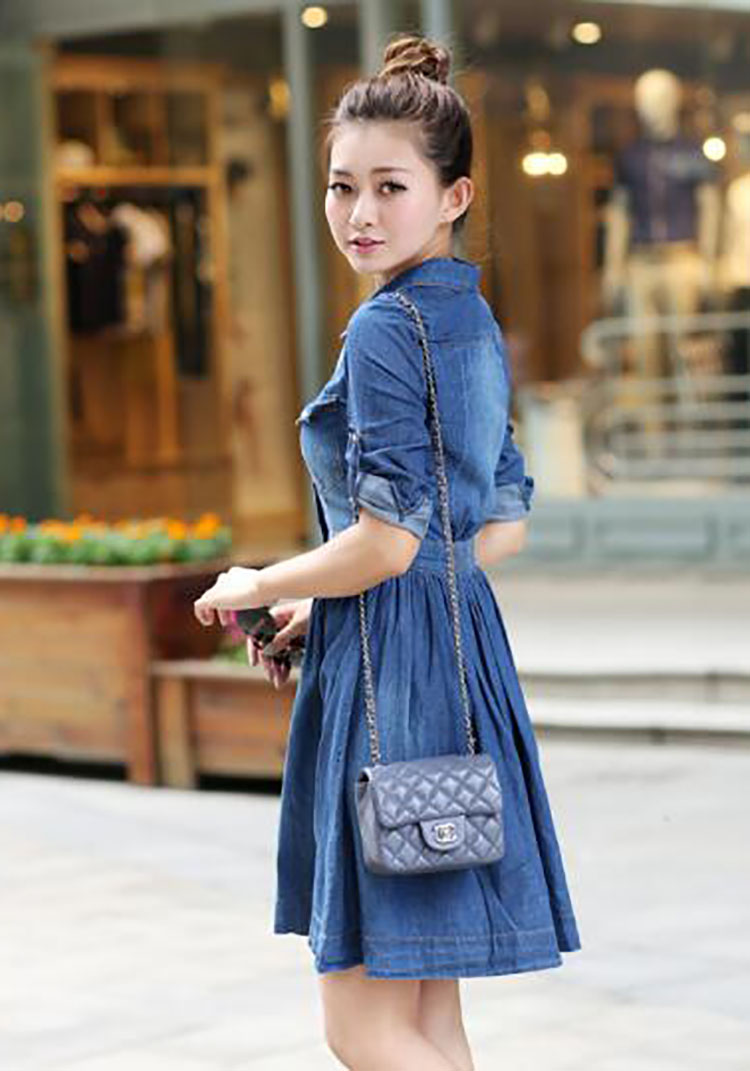 5  spring summer season girls clothes,informal pleated demin gown plus measurement HTB1OvhckiMnBKNjSZFCq6x0KFXaE