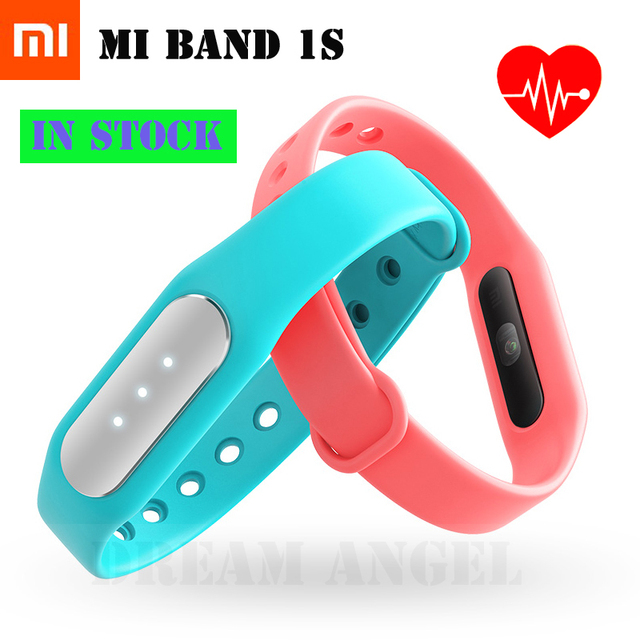 IN STOCK! 100% Original! 2015 Newest Xiaomi Mi Band 1S  , Smart Xiaomi Miband Heart Rate Monitor Pulse 1S for Android/iOS