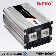 (WHP-3000-122) 3000 w de onda sinusoidal pura inversor de la energía de entrada 12vdc a 220vac de salida