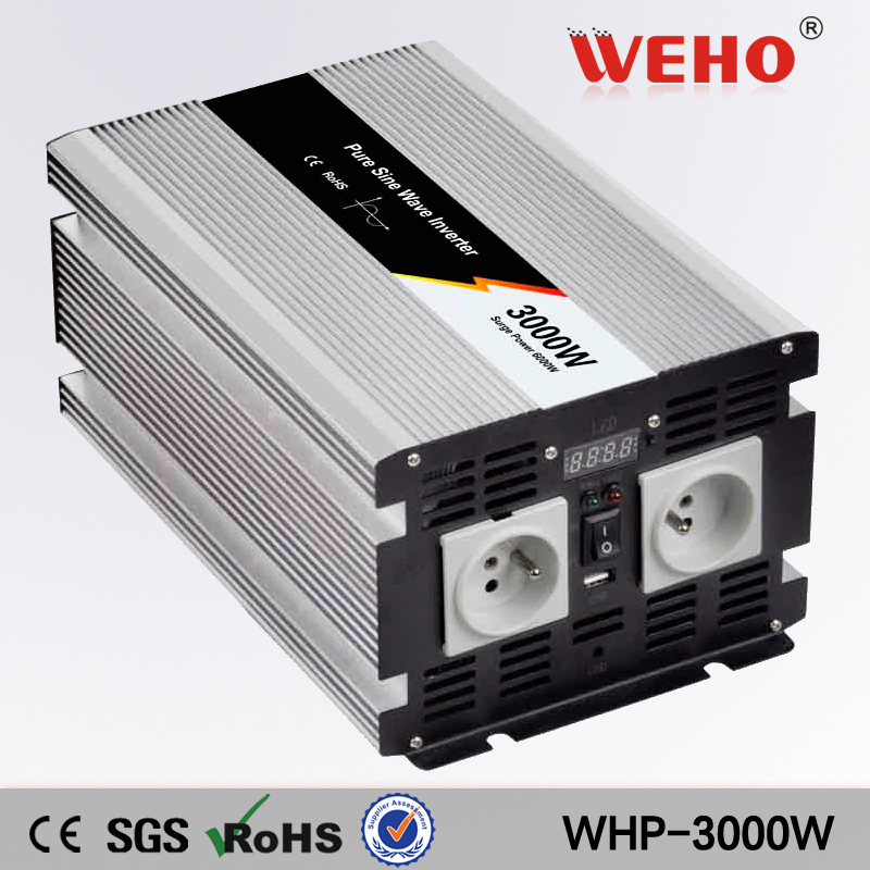 (WHP-<font><b>3000</b></font>-122)3000w pure sine wave power <font><b>inverter</b></font> 12vdc input to 220vac output image