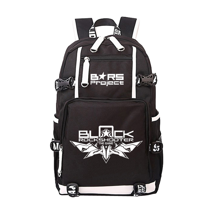 Women Men Anime Cartoon Black Rock Shooter Project Backpack Rucksack Mochila Schoolbag Bag For School Boys Girls Student Travel anime cartoon tokyo ghoul cosplay backpack schoolbag one piece gintama school bag rucksack men s women s naruto travel bag