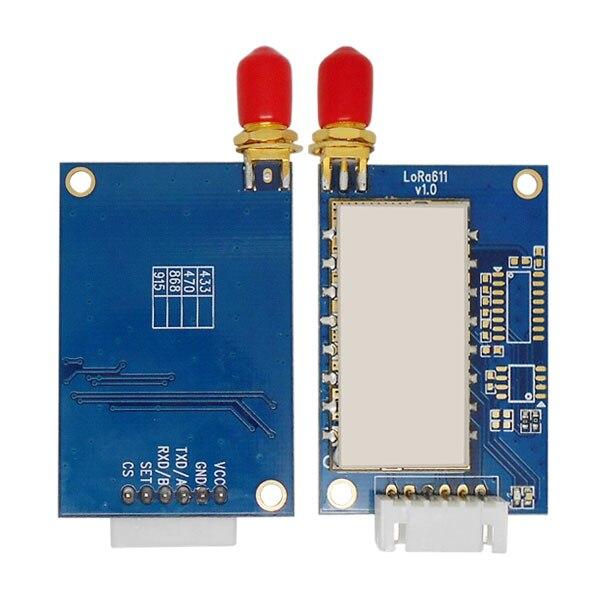 bilder für 2 teile/los 4 km 915 MHz 20dBm LoRa wireless-daten-transceiver-modul Lora611AES mit RS485/RS232/TLL & AES verschlüsselung