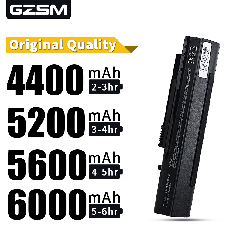 HSW Laptop Battery For Acer Aspire One A110 A150 D150 D250 ZG5 UM08A31 UM08A32 UM08A71 UM08A72 UM08A73 UM08B74 UM08A51 UM08A52