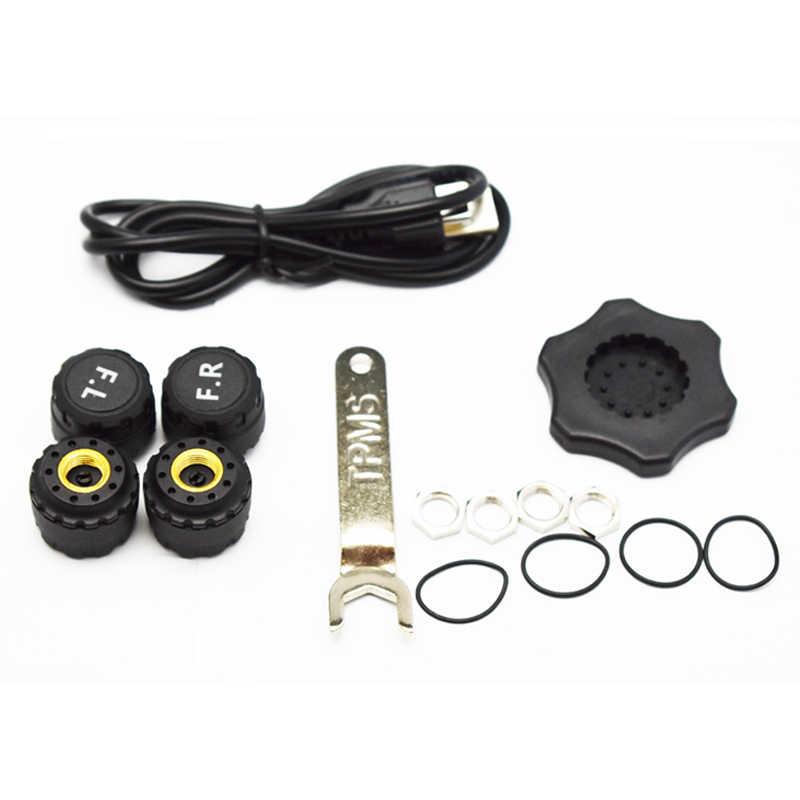 Sistema de monitorización de presión de neumáticos de coche inteligente TPMS cargador de energía Solar pantalla LCD Digital sistema de alarma de seguridad automática coche Eletronic