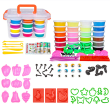 24pcs/box DIY Soft Light Clay with Tools Kit Fimo Polymer Slime Plasticine Air Dry Handgum Playdough Toys For Kids