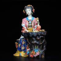 Shiwan Doll Master Fine Ceramic Ornaments Jia Xichun Jinling Twelve Red Dream Characters Decor Arts And Crafts M1231