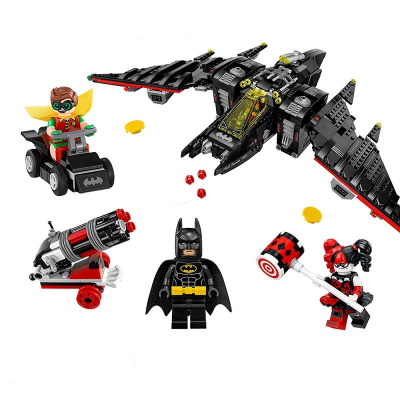 WAZ Compatible Legoe batman 70916 Model 2017 07080 1068pcs super heroes Batwing Figure building blocks bricks toys for children lepin 07056 775pcs super heroes movie blocks the scuttler toys for children building blocks compatible legoe batman 70908