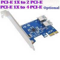 10 bộ/lô PCI E 1-4 2 PCI-E PCI Express 1X Chuyển Đổi Multiplier HUB Riser Thẻ Internal USB 3.0 PCIE 1-2 Cảng 4 Cổng tùy chọn
