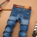 Новая Мода Sulee Марка Джинсы Мужчины Регулярный Fit Staright Классический Синий джинсы Известный Бренд Высокого Качества Мужские Джинсы Брюки Плюс Размер 40