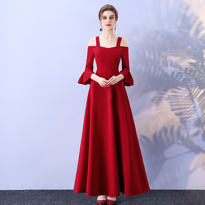 Sexy Solid Color Chinese Oriental Wedding Female Cheongsam Vintage Evening Dress Elegant Celebrity Banquet Dresses Plus Size