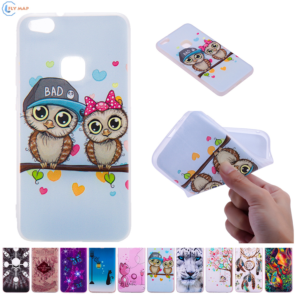 3D Relief Case for Huawei P10 Lite P10Lite WAS-LX1 WAS-TL10 Soft TPU Phone Cover for Huawei P 10 Lite WAS LX1 TL10 Silicone Box ...