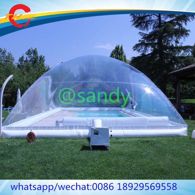 Free Air Ship To Door Commercial Giant Outdoor Transparent Inflatable Pool Bubble Dome Clear