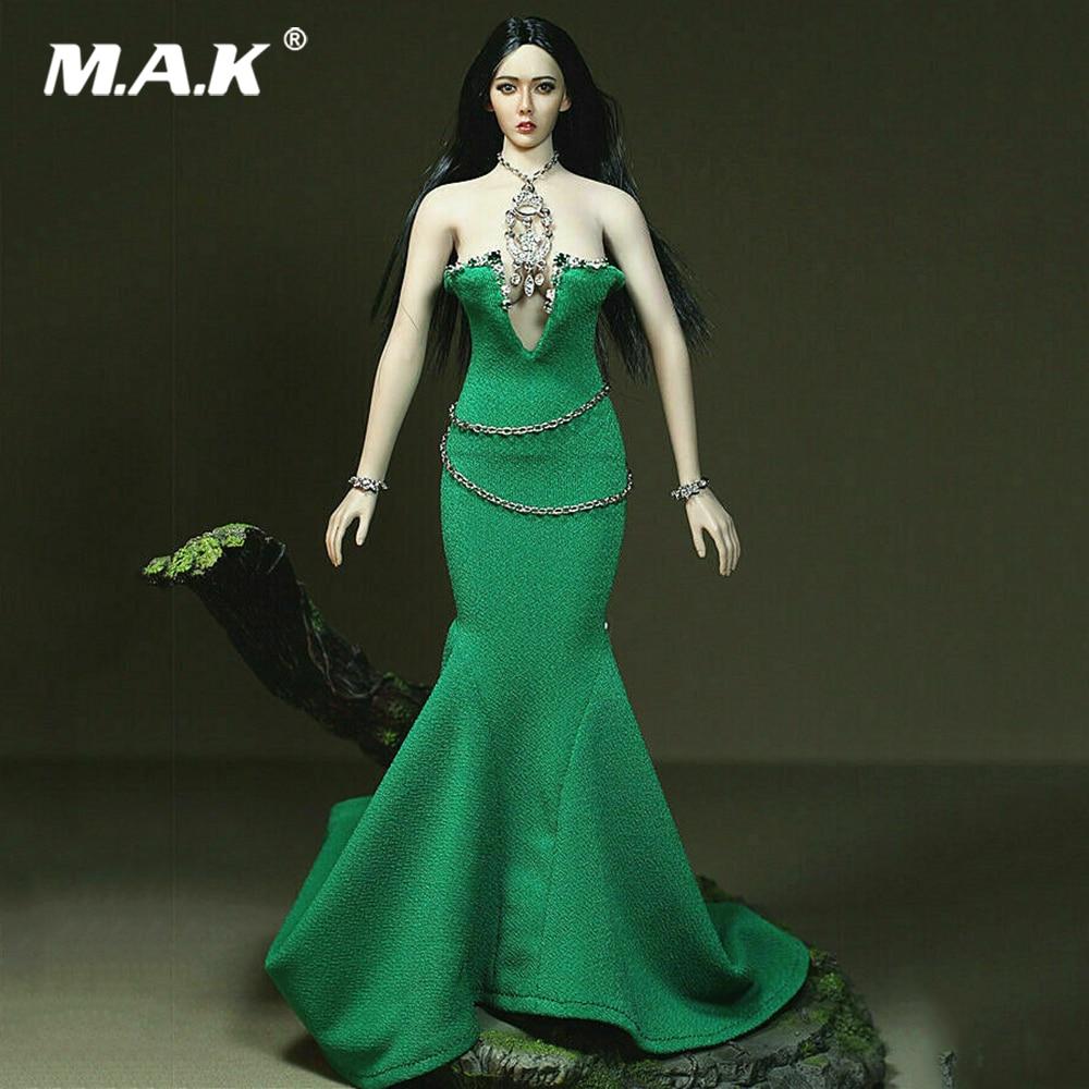 Customize 1//6 Female Black Dress Neck Skirt Clothes Set F 12/'/' PH Big Bust Body