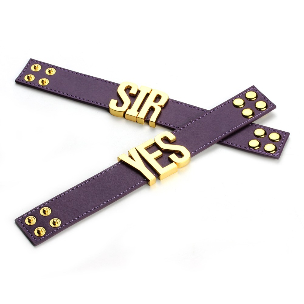 Suicide-Squad-Yes-Sir-Letter-Bracelets-Purple-Harley-Quinn-Leather-Prop-Wristband-Bracelet-for-Halloween-Cosplay (4)