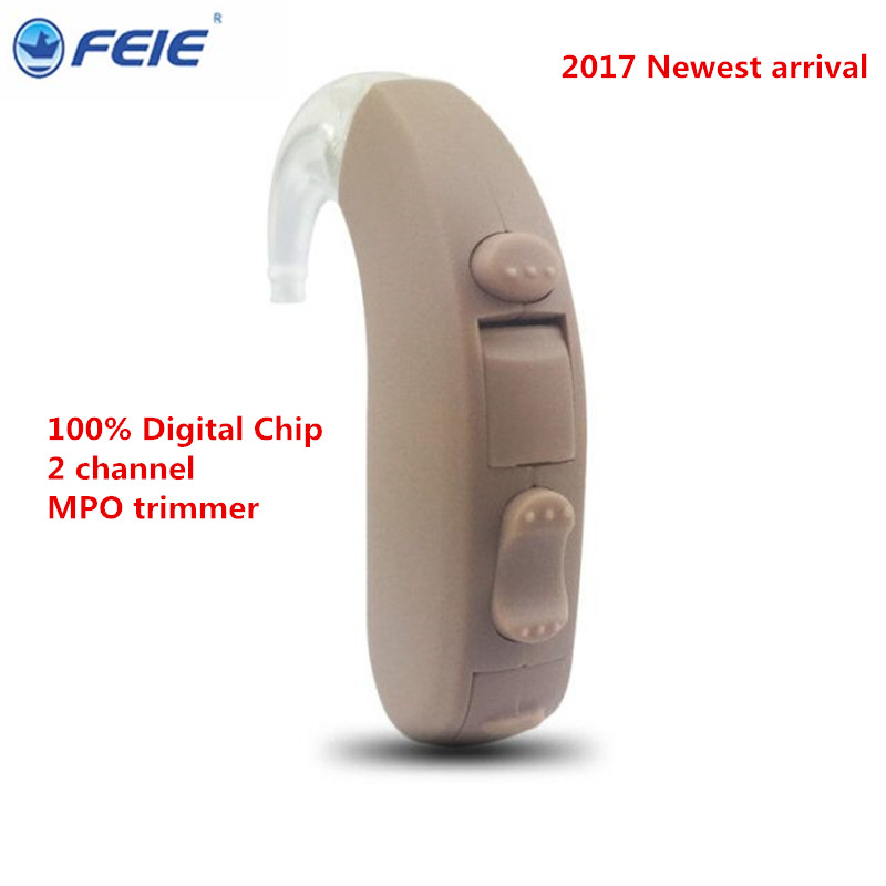 Mini Audifonos Sordos MY-13 Feie 2 Channels  Mini Digital BTE WDRC Sound Amplifier Micro Ear Hearing Aid Free Shipping open fitting programmable bte hearing aid 7 channels sound hearing amplifier for treatment tinnitus my 26 battery free shipping