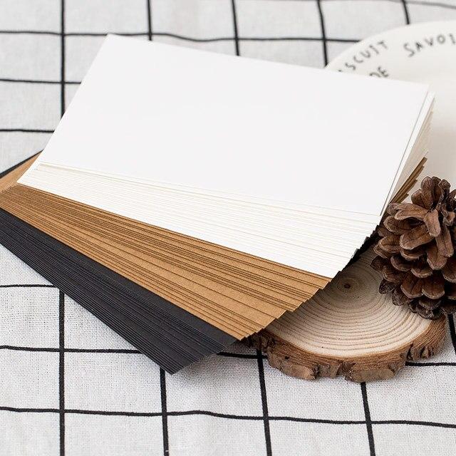 (20 sheets/lot) DIY Blank Postcard White Card Paper Scarpbooking Graffiti Greeting Card Black and White Kraft Paper Card 4
