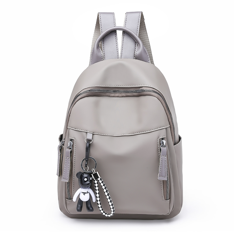 Backpack female Korean version 2018 new wild canvas bag large capacity nylon bag Oxford cloth small backpack