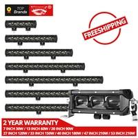 6D Lens Single Row Led Light Bar Car for 4WD Lada niva 4x4 ATV Trailer LED Driving Light for Offroad Trucks 30W 60W 120W 210W