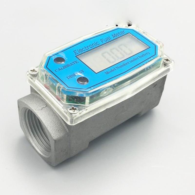 1inch flow meter electronic oil Table Diesel / kerosene / petrol / methanol / flow meter range 10 120L/min free shipping