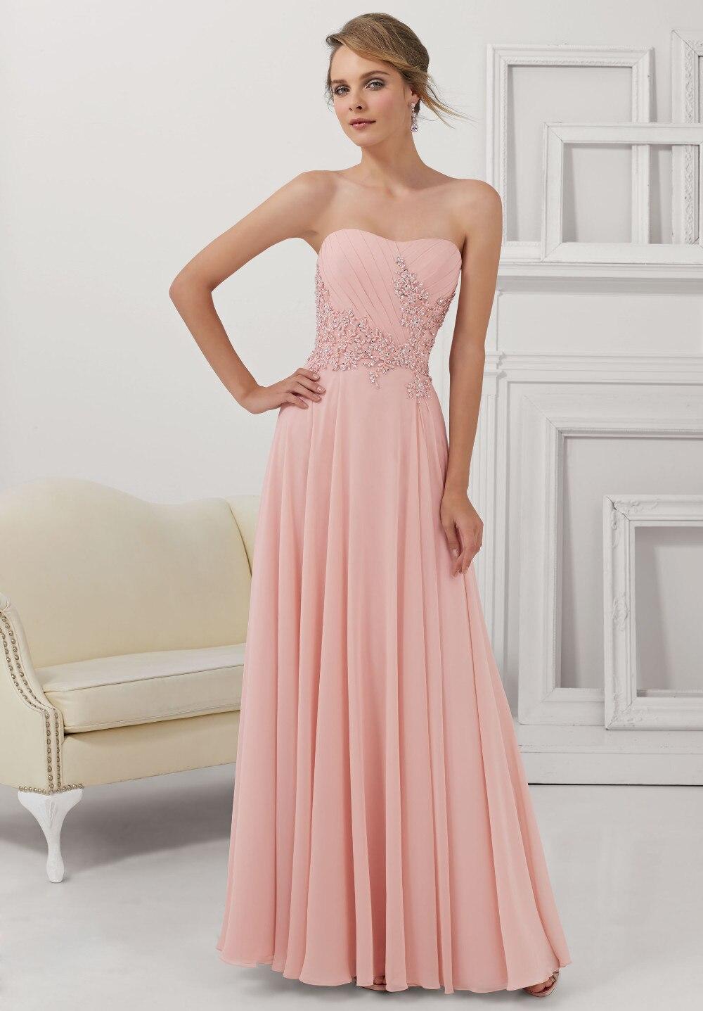Burdeos Rosa de Noche Largo Elegante Vestidos de Novia con la ...