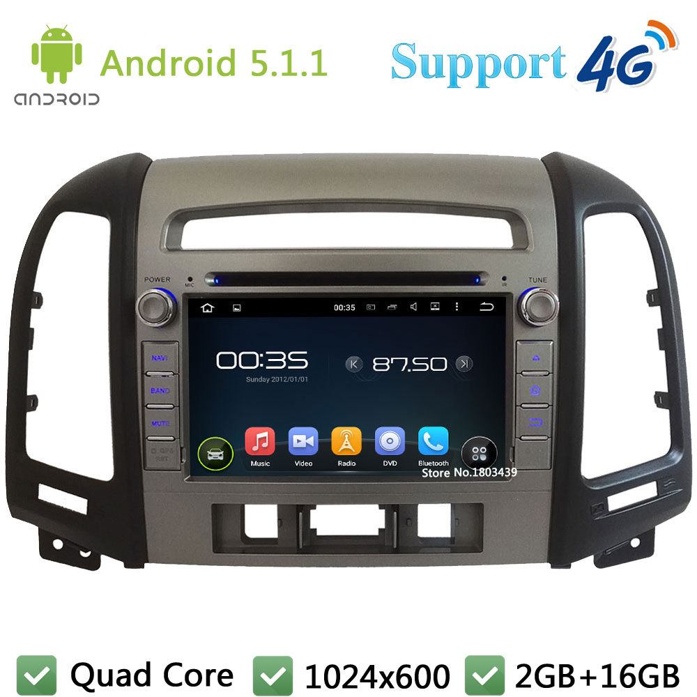Quad Core 7 2Din Android 5 1 1 font b Car b font DVD Player Radio