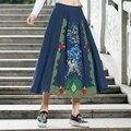 2016 новый национальный ветер вышивка хлопок юбки