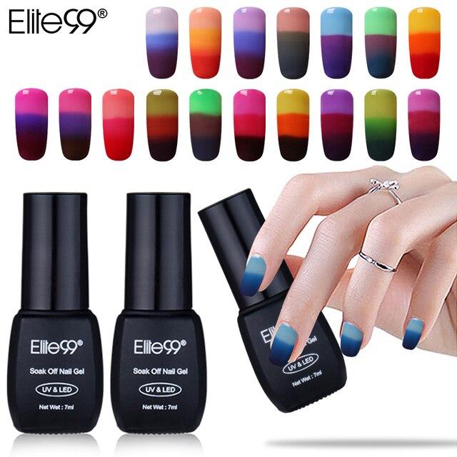 Elite99 32 Farben Thermische Temperatur Ändern Farbe Nagel Gel Tränken Weg UV Chameleon Gel Polish Led Nagellack Gel lack