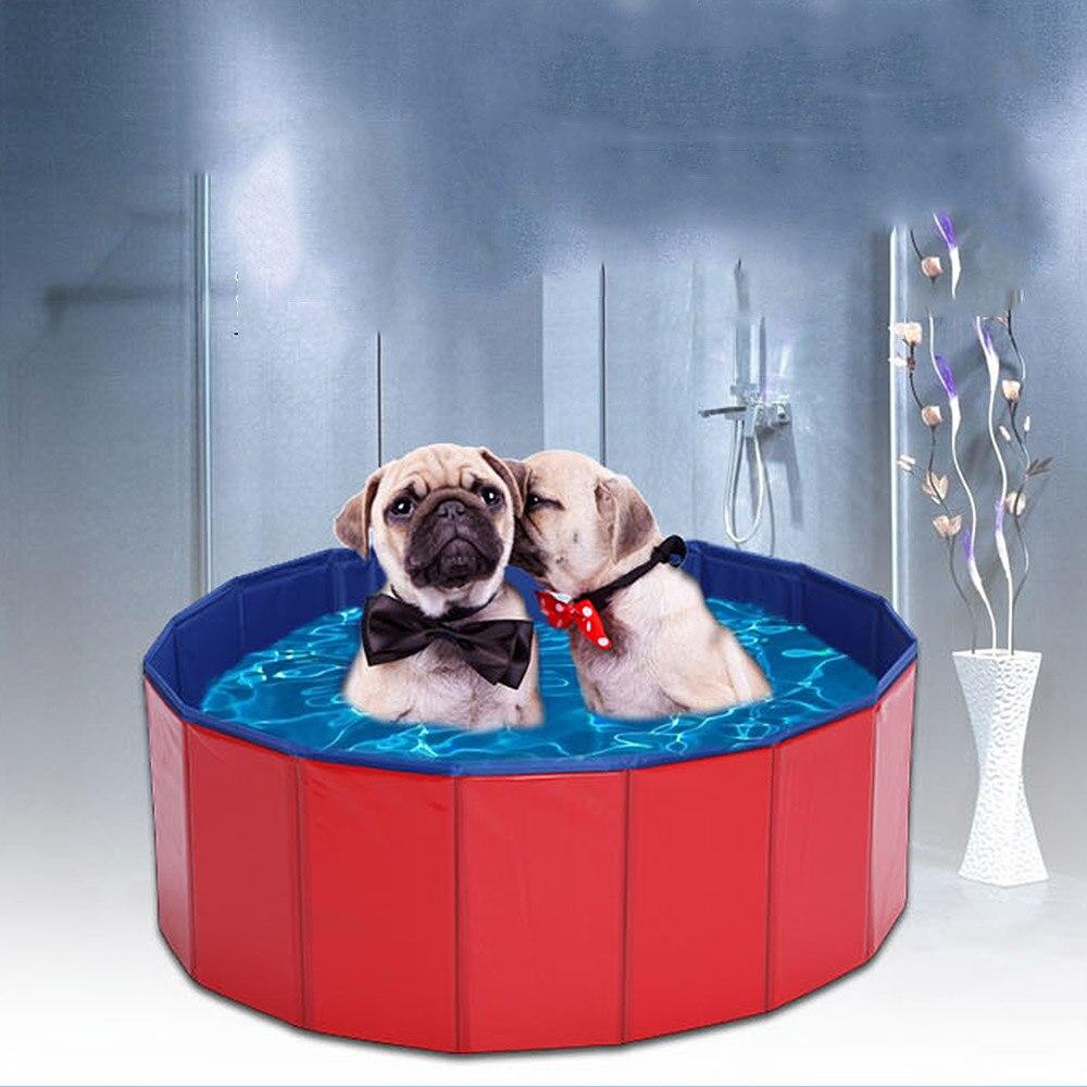 Piscine pliable pour chien piscine pour chien grande taille pliable 4 saisons pour animaux de compagnie jouant étang de lavage pour chat grand chien été