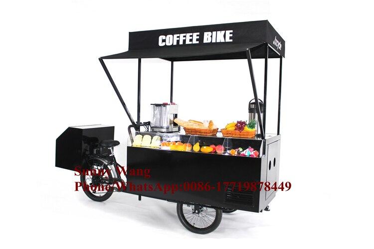 KN T07A Retro coffee bike retro mobile food bike for ice cream snack BBQ /Hot Food Truck/Fashion Coffee Cart