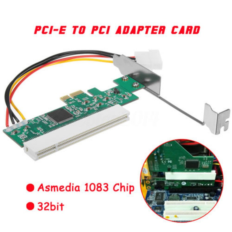 PCI Express PCI-E To PCI Adapter Card Asmedia 1083 Chip Riser Extender 32bit PCIe To PCI Converter Adapter