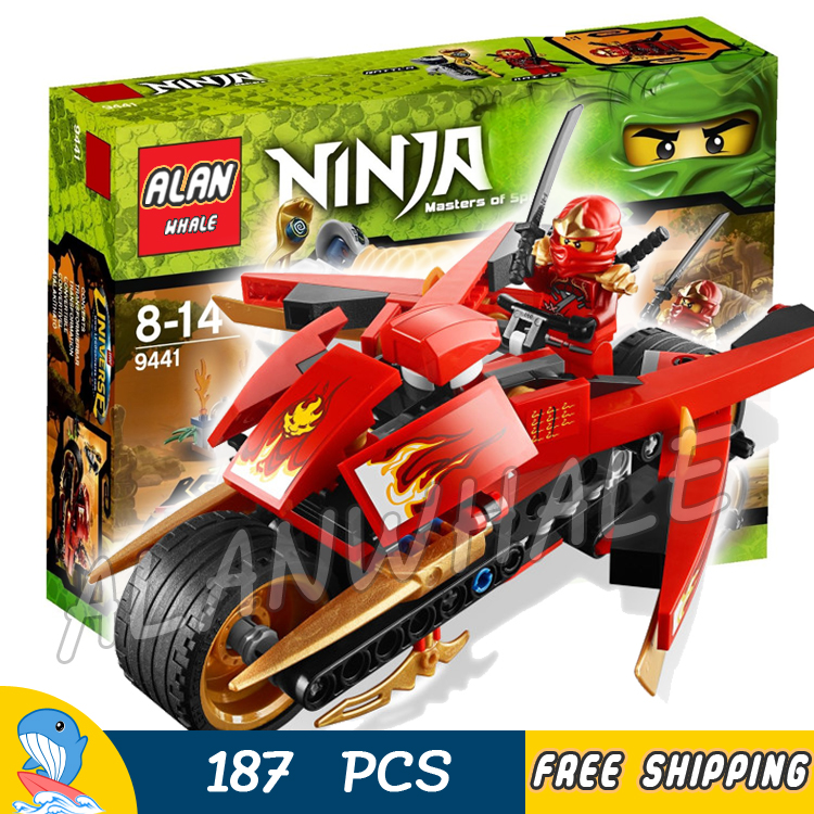 187pcs Ninja Kais Blade Cycle ZX Rattla Bike Vehicle 9754 Model Building Blocks Classic Aseemble Toy Brick Compatible With lego