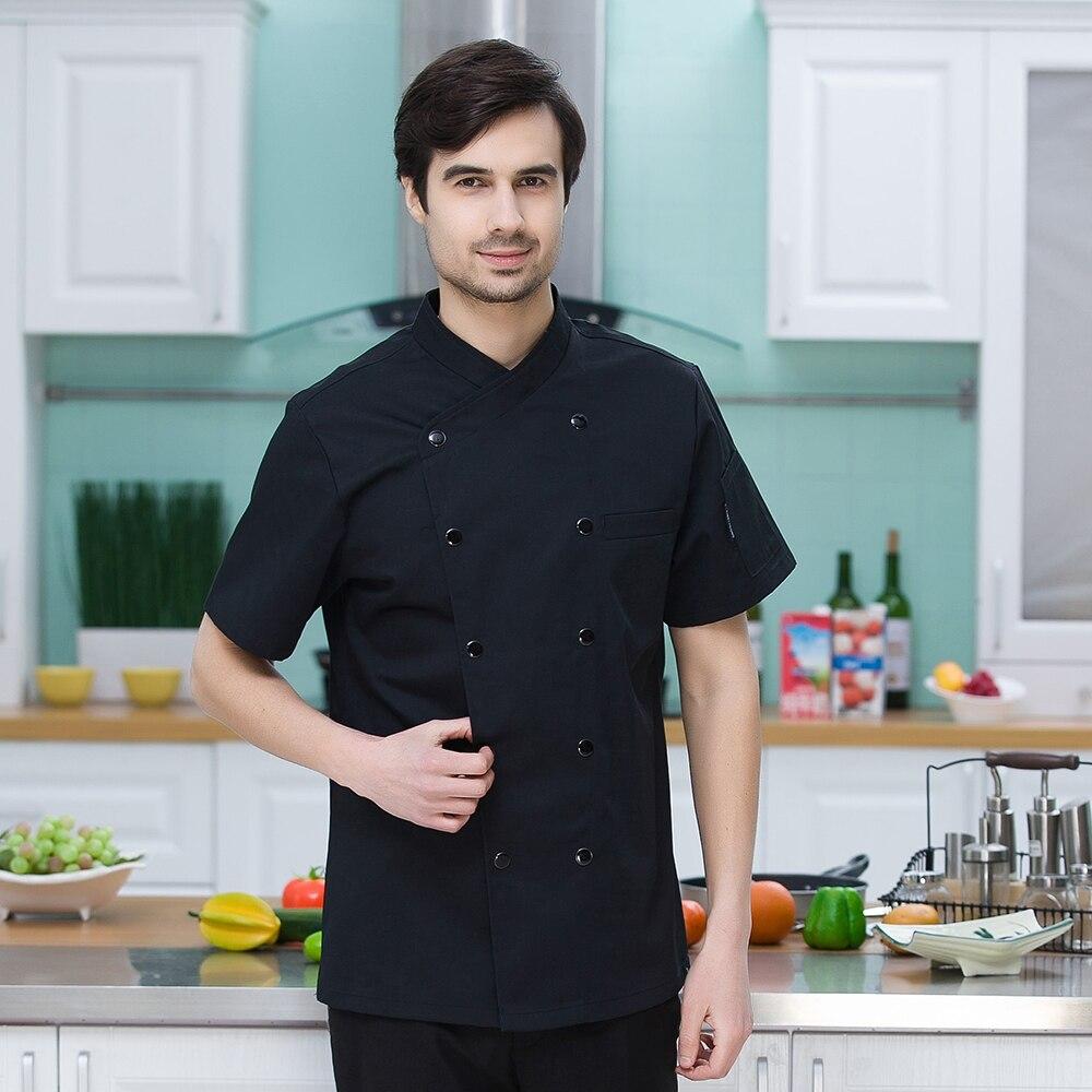 New Chef White Uniforms Hotel Restaurant Kitchen Cook Jackets For ...