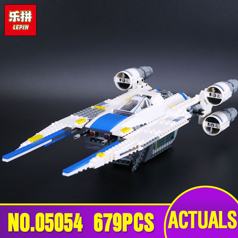Lepin 05054 Star 679pcs New Genuine War Series The U Fighter Wing Set Educational Building Blocks Bricks Toys With 75155 rollercoasters the war of the worlds