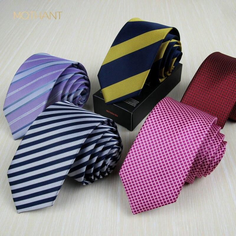 Professional Tie To Work Korean Version Of The Men's Narrow Tie 6CM Men's Tie Fashion England Casual Wedding Groom Men's Tie