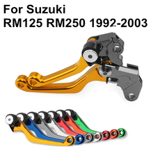 Gold CNC Pivot Brake Clutch Levers for Suzuki RM125 RM250 RM 125 250 1992-1999 2010 2011 2012 2003