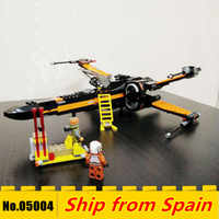 05004 Star War series First Order Poe's X-wing Fighter model Kids Toy Building Block bricks with the 75102 Christmas gifts