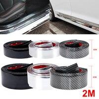 2 м автомобильные наклейки из углеродного волокна пленка резиновая отливка отделка полосы DIY дверной край Защита протектор 3 цвета для автом...
