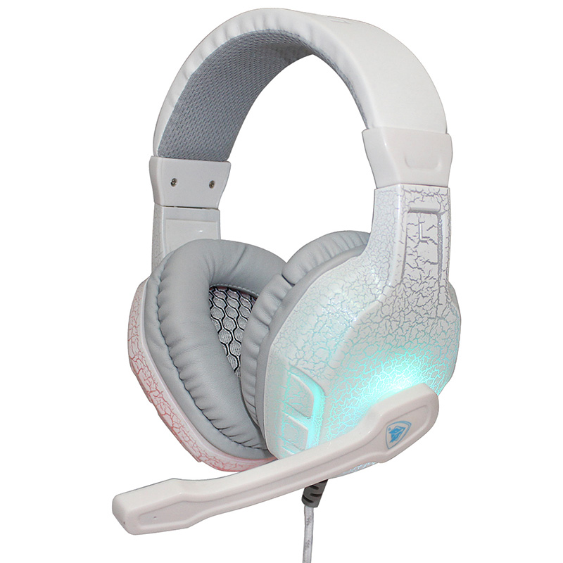 New Led Light Auriculares Gaming Stereo Headset Adjustable with Microphone & Volume Control Headphone For PC Gamer Free Shipping kotion each g2000 gaming headset pc gamer headphones headphone for computer auriculares fone de ouvido with microphone led light