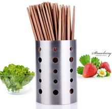 Kitchen Storage Organization Stainless steel tube creative chopsticks holder tableware Storage Holders Racks free shipping