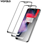 Wofalo For OnePlus 5/5T/ 6 Screen Protector Full Coverage Curved Tempered Glass Screen Protector Film for OnePlus 6