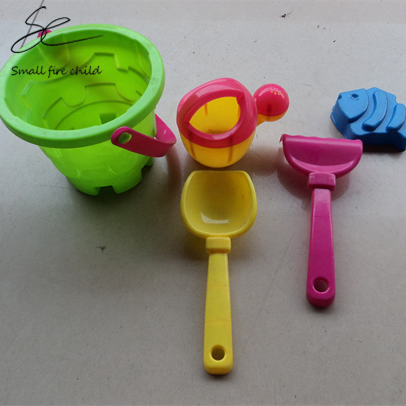 New Arrival Baby Kids Sandy beach Toy Set 5PCS tool Beach Bucket Baby playing with sand