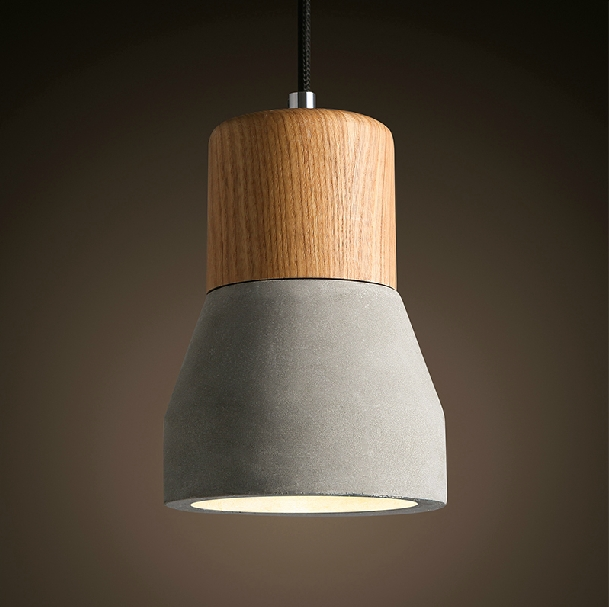 Nordic minimalist cement pendant lights with oak wood lampholder nordic minimalist cement pendant lights with oak wood lampholder loft countryside style cement light modern led aloadofball Images