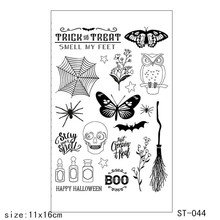 Halloween/Shantou  Transparent Silicone Clear Stamps/seal for DIY Scrapbooking/Card Making/Photo Album Decoration Supplies