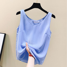 Chiffon Tops Women Summer Woman Streetwear White Top Plus Size Sexy Harajuku Solid Stain Vest Tees 2XL