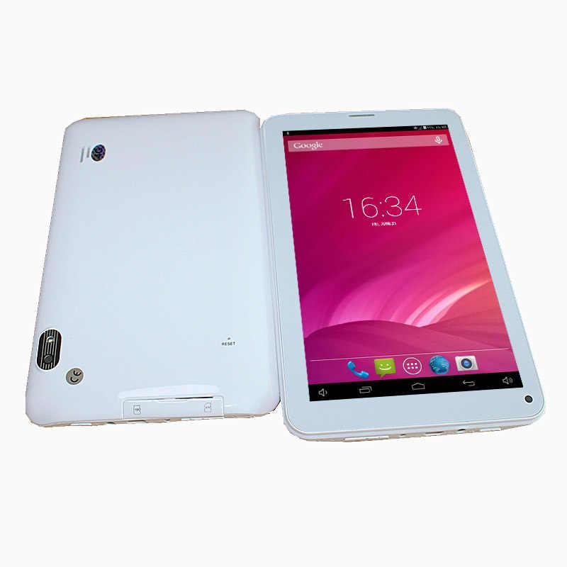 2 グラム電話 512 メガバイト 4 ギガバイト 1024*600 デュアルカメラ A33 クアッドコアの android 4.4 7 インチ 86 12v ホワイトタブレット
