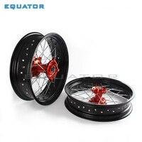 2,50*17 3,50*17 спереди и сзади MX супермото оранжевый колесные диски концентратора для KTM SX MXC XC GS кроме XCW EXCF SXSF XCG 125 250 HUSABERG