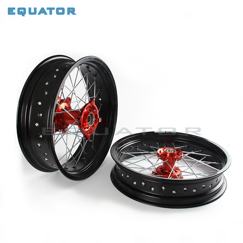 2.50*17 3.50*17 Front Rear MX Supermoto Orange Wheels Rims Hub for KTM SX MXC XC GS SXS EXC XCW EXCF SXSF XCG 125 250 HUSABERG
